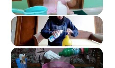 Mahasiswa KKN UM Luncurkan Video Tutorial Pembuatan Disinfektan untuk Masyarakat Desa Clumprit